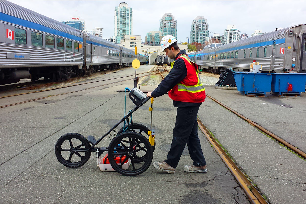 Utility Locates at VIA Rail Canada Terminal in Vancouver