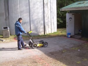 Locate underground oil tank using GPR